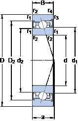 70 mm x 100 mm x 16 mm  SKF S71914 ACB/HCP4A angular contact ball bearings
