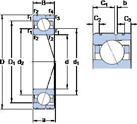 70 mm x 100 mm x 16 mm  SKF 71914 ACD/P4AL angular contact ball bearings