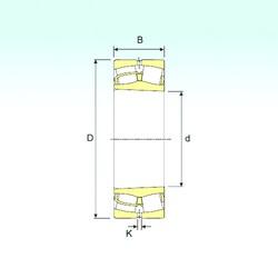 120 mm x 180 mm x 60 mm  ISB 24024 K30 spherical roller bearings