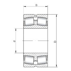 120 mm x 180 mm x 60 mm  Loyal 24024 CW33 spherical roller bearings