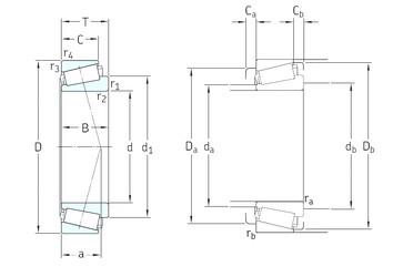 35 mm x 80 mm x 21 mm  SKF 31307J2/Q tapered roller bearings
