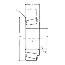 35 mm x 80 mm x 21 mm  FBJ 30307 tapered roller bearings