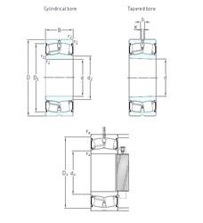 120 mm x 180 mm x 60 mm  SKF 24024-2CS5/VT143 spherical roller bearings