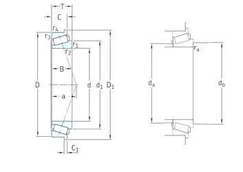 35 mm x 80 mm x 21 mm  SKF 30307RJ2/Q tapered roller bearings