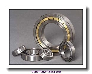 90 mm x 140 mm x 24 mm  FAG 6018 deep groove ball bearings