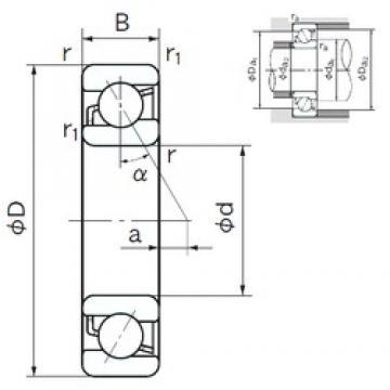 200 mm x 310 mm x 51 mm  NACHI 7040C angular contact ball bearings