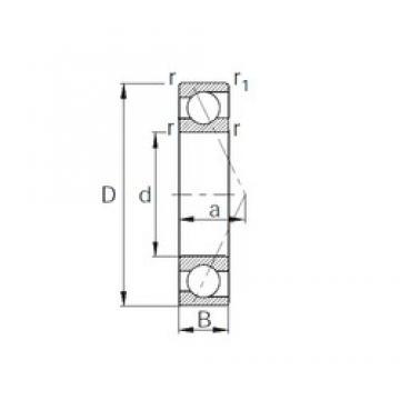 90 mm x 140 mm x 24 mm  CYSD 7018C angular contact ball bearings