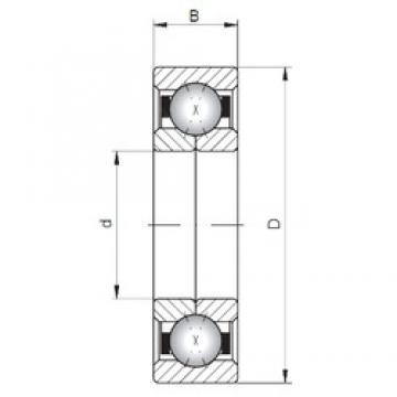 ISO QJ202 angular contact ball bearings