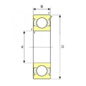 90 mm x 140 mm x 24 mm  ISB 6018-ZZ deep groove ball bearings