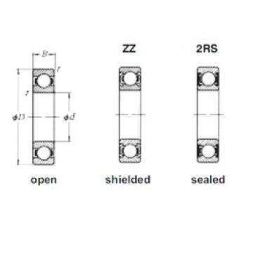 15 mm x 35 mm x 11 mm  Loyal 6202-2RS deep groove ball bearings