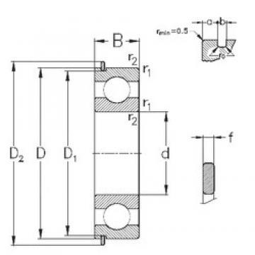 75 mm x 130 mm x 25 mm  NKE 6215-NR deep groove ball bearings
