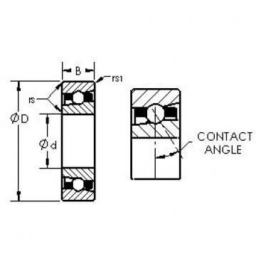 AST H7018C angular contact ball bearings
