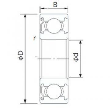 90 mm x 140 mm x 24 mm  NACHI 6018Z deep groove ball bearings
