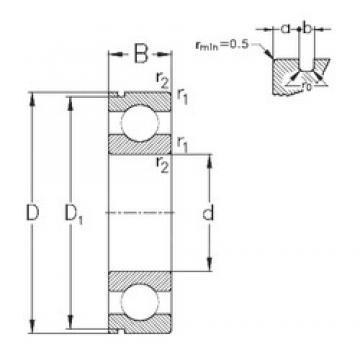 55 mm x 140 mm x 33 mm  NKE 6411-N deep groove ball bearings