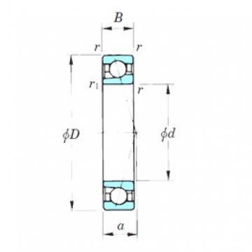 200 mm x 310 mm x 51 mm  KOYO 7040CPA angular contact ball bearings