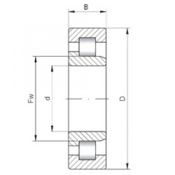 200 mm x 310 mm x 51 mm  ISO NJ1040 cylindrical roller bearings
