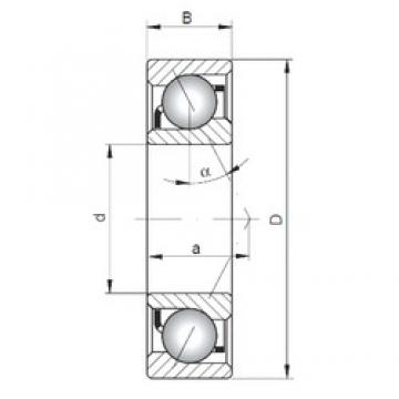 90 mm x 140 mm x 24 mm  Loyal 7018 B angular contact ball bearings