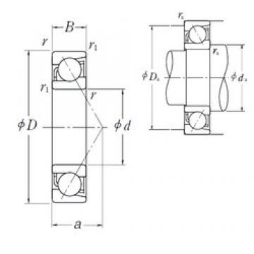 90 mm x 140 mm x 24 mm  NSK 7018 A angular contact ball bearings
