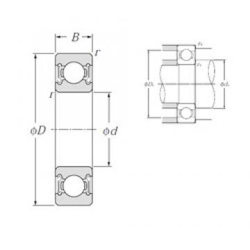 75 mm x 130 mm x 25 mm  NTN 6215LLB deep groove ball bearings