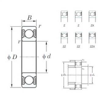 90 mm x 140 mm x 24 mm  KOYO 6018ZZ deep groove ball bearings