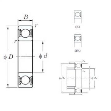 75 mm x 130 mm x 25 mm  KOYO 6215-2RU deep groove ball bearings
