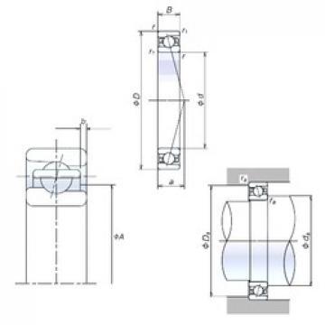 90 mm x 140 mm x 24 mm  NSK 90BER10X angular contact ball bearings