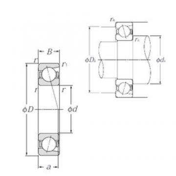 90 mm x 140 mm x 24 mm  NTN 7018 angular contact ball bearings