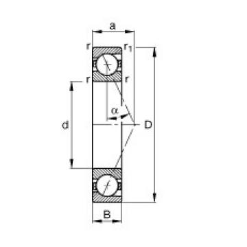 200 mm x 310 mm x 51 mm  FAG B7040-E-T-P4S angular contact ball bearings