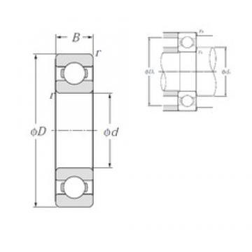 15 mm x 35 mm x 11 mm  NTN 6202 deep groove ball bearings