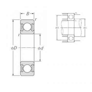 90 mm x 140 mm x 24 mm  NTN 6018LLU deep groove ball bearings