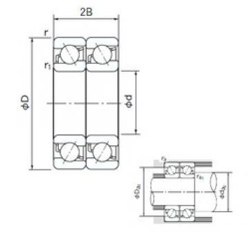 200 mm x 310 mm x 51 mm  NACHI 7040CDT angular contact ball bearings