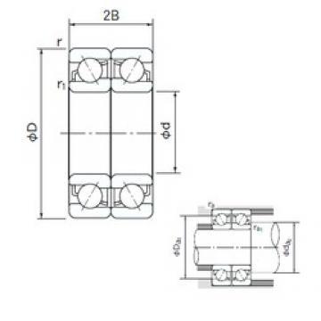 200 mm x 310 mm x 51 mm  NACHI 7040DF angular contact ball bearings