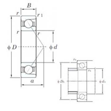 55 mm x 140 mm x 33 mm  KOYO 7411 angular contact ball bearings