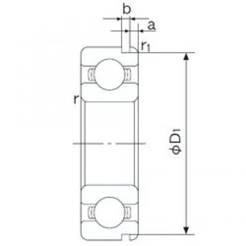 15 mm x 35 mm x 11 mm  NACHI 6202N deep groove ball bearings