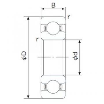 15 mm x 35 mm x 11 mm  NACHI 6202 deep groove ball bearings