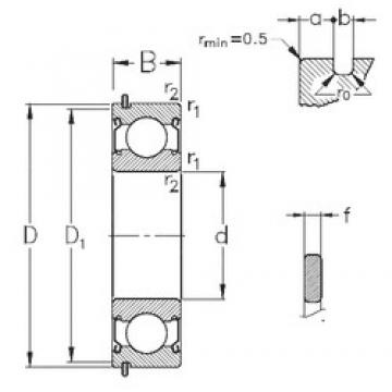 90 mm x 140 mm x 24 mm  NKE 6018-2Z-NR deep groove ball bearings