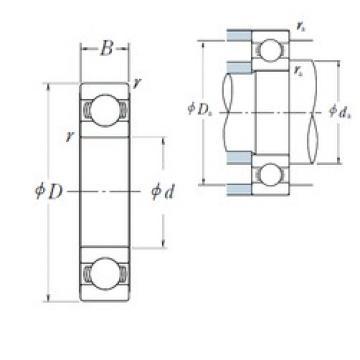 90 mm x 140 mm x 24 mm  NSK 6018 deep groove ball bearings