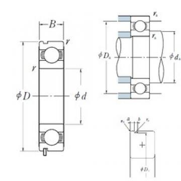 90 mm x 140 mm x 24 mm  NSK 6018N deep groove ball bearings