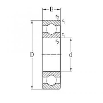 200 mm x 310 mm x 51 mm  NKE 6040-M deep groove ball bearings