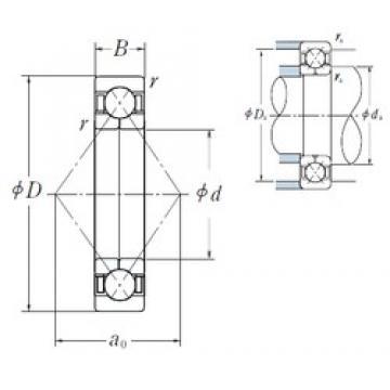 75 mm x 130 mm x 25 mm  NSK QJ215 angular contact ball bearings