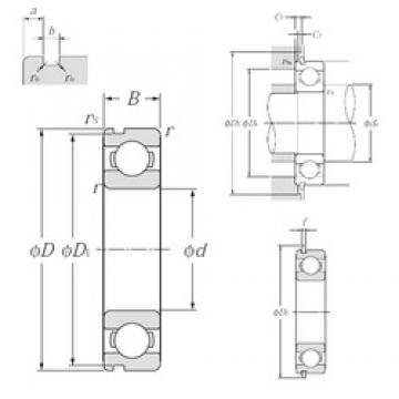 90 mm x 140 mm x 24 mm  NTN 6018NR deep groove ball bearings