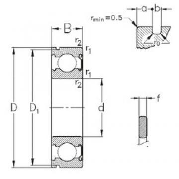 15 mm x 35 mm x 11 mm  NKE 6202-Z-NR deep groove ball bearings