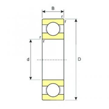 90 mm x 140 mm x 24 mm  ISB 6018 deep groove ball bearings