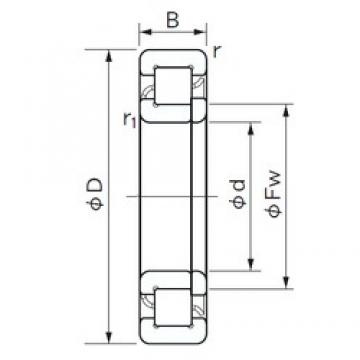 90 mm x 140 mm x 24 mm  NACHI NUP 1018 cylindrical roller bearings