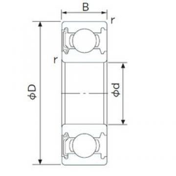75 mm x 130 mm x 25 mm  NACHI 6215NSE deep groove ball bearings