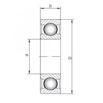 200 mm x 310 mm x 51 mm  Loyal 6040 deep groove ball bearings