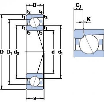 70 mm x 100 mm x 16 mm  SKF 71914 ACD/P4AH1 angular contact ball bearings