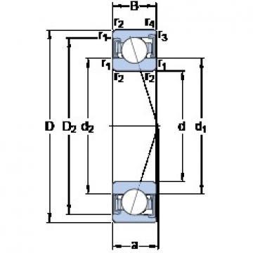 70 mm x 100 mm x 16 mm  SKF S71914 ACD/HCP4A angular contact ball bearings