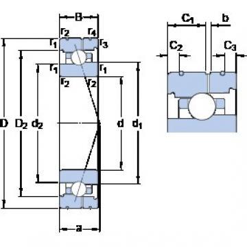 70 mm x 100 mm x 16 mm  SKF 71914 CB/P4AL angular contact ball bearings