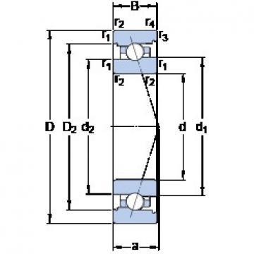 70 mm x 100 mm x 16 mm  SKF 71914 CB/P4A angular contact ball bearings